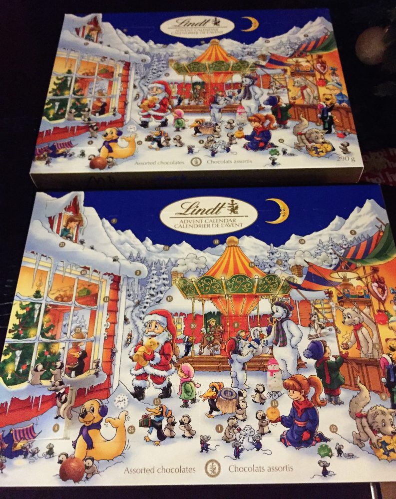 Advent Calendars: Waxy Chocolates, Fanciness, Happiness, and Kindness.